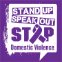 Stand Up Speak Out Stop Domestic Violence Theme from Positive Promotions