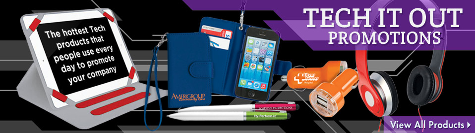 customizable technology merchandize, personalized technology giveaways