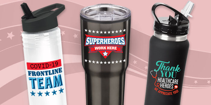 Thank All The Heroes Appreciation drinkware