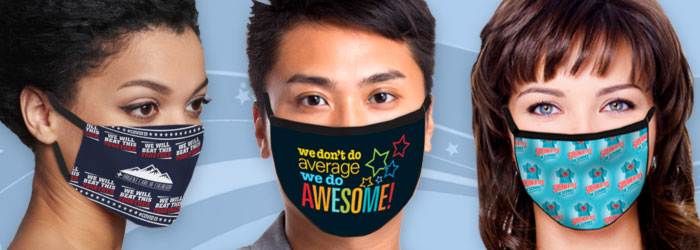 Thank All The Heroes face masks with positive messages