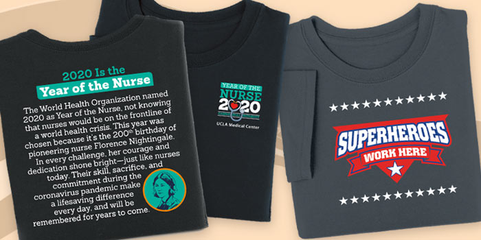 Thank All The Heroes T-Shirts with positive messages