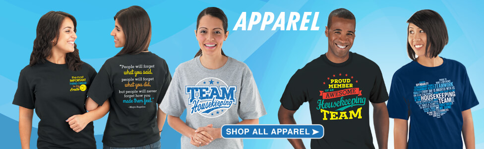 Check out our stylish International Housekeepers appreciation apparel
