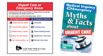 Educational tools to help patients choose urgency vs. emergency. Myths and facts about urgent care