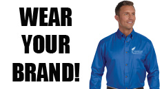 shop all promotional apparel, wear your brand by personalizing our promotional apparel products