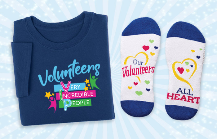 Volunteers Recognition and Appreciation Apparel Gifts