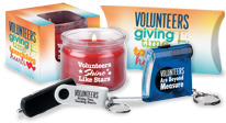 volunteer appreciation, volunteer recognition home and auto gifts, candles, key tags, key rings, tools, wallets and more