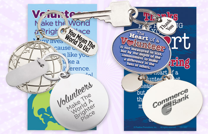 Volunteers Recognition and Appreciation Key Tag Gifts