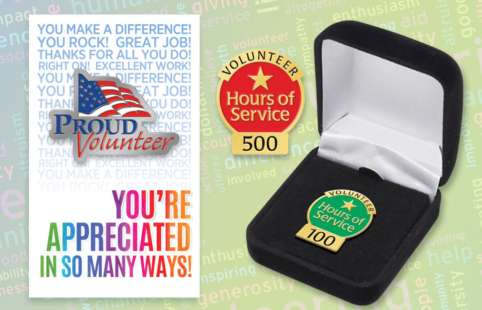 Volunteers Recognition and Appreciation Pin Gifts