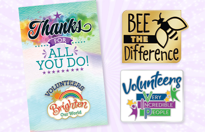 Volunteers Recognition and Appreciation Lapel Pin Gifts