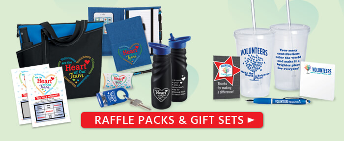 Volunteers appreciation and recognition gift sets and raffle packs