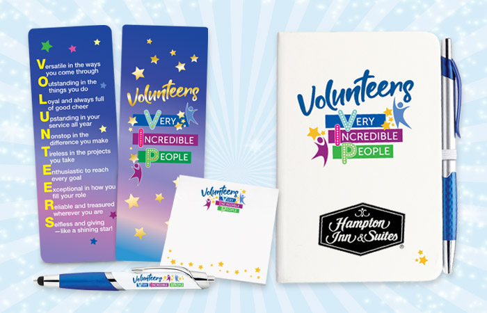 Volunteers Recognition and Appreciation Stationery Gifts
