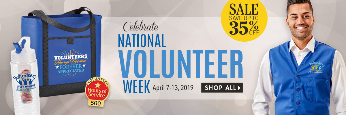 Celebrate National Volunteer Week. Volunteers Gifts.
