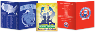 welcome back to school custom student folders, from 1 color to full color with protective UV coating. Helps keep students organized.