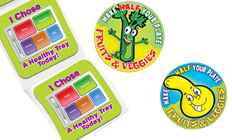 Bright stickers to help 'stick' to healthier life choices.