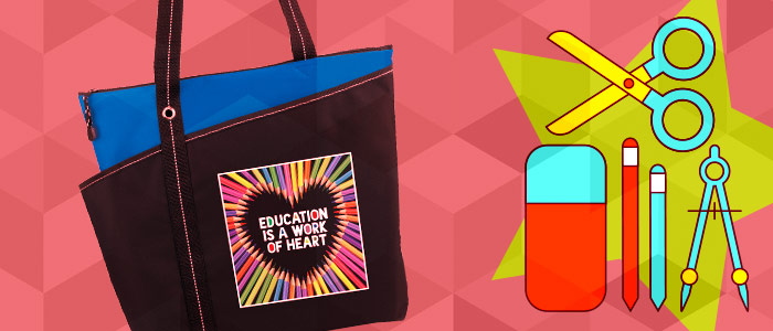 Fill Tote Bags with essential classroom supplies