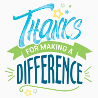 Thanks For Making A Difference themed products