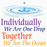 Individually We Are One Drop Together We Are The Ocean themed products
