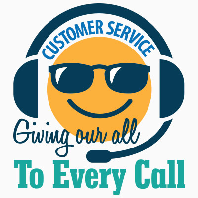 Customer Service Giving Our All To Every Call Theme from Positive Promotions