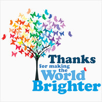 Thanks For Making The World Brighter themed products