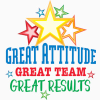 Great Attitude Great Team Great Results themed products