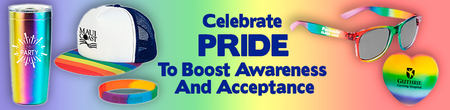 Pride awareness pins from Positive Promotions