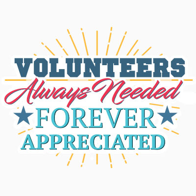 Volunteers Always Needed Forever Appreciated themed products