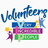 Volunteers Very Incredible People themed products