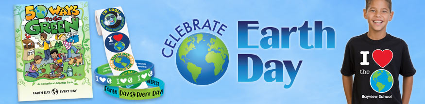Earth day giveaways from Positive Promotions