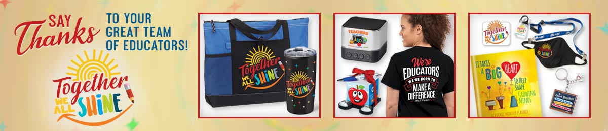 Teacher personal care items from Positive Promotions