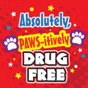 PAWS itively Drug Free Theme from Positive Promotions