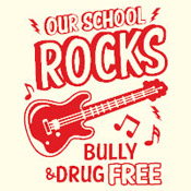 Our School Rocks Bully & Drug Free Theme from Positive Promotions