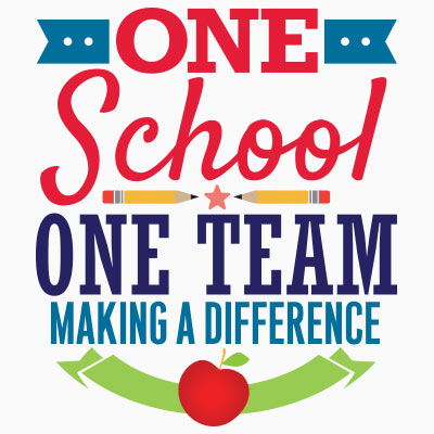 One School One Team Making A Difference themed products