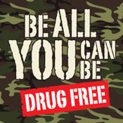 Be All You Can Be Drug Free Theme from Positive Promotions
