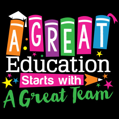 A Great Education Starts With A Great Team themed products