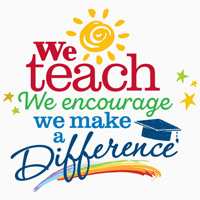 We Teach We Encourage We Make A Difference themed products