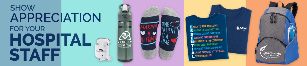 Hospital staff appreciation gift sets from Positive Promotions