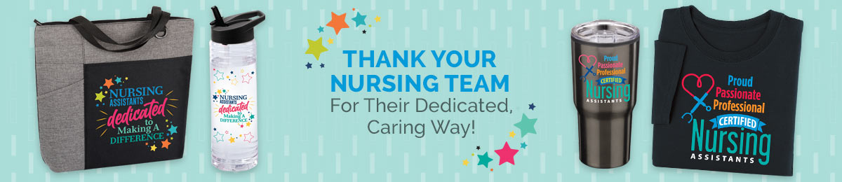 Nursing assistants gift sets & raffle packs from Positive Promotions