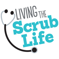 Living The Scrub Life themed products