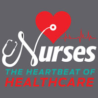 Nurses The Heartbeat Of Healthcare themed products