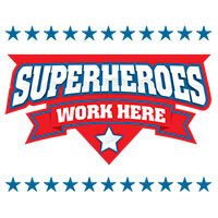 Superheroes Work Here themed products