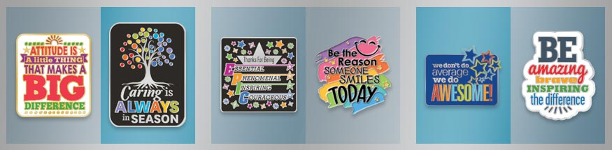 COURAGEOUS SCHOOL REWARD POSITIVE MESSAGE ENAMEL PIN BADGE