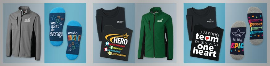 Employee appreciation apparel from Positive Promotions