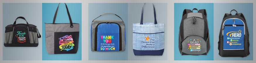 Employee appreciation bags from Positive Promotions