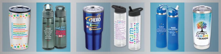 Employee appreciation Drinkware from Positive Promotions
