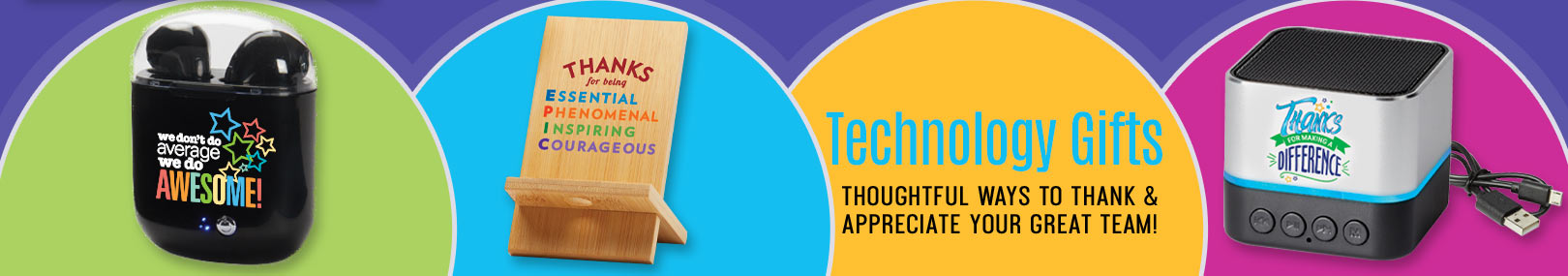 Employee appreciation technology gifts from Positive Promotions