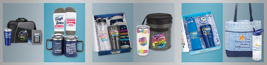 Employee appreciation gift sets & raffle packs from Positive Promotions