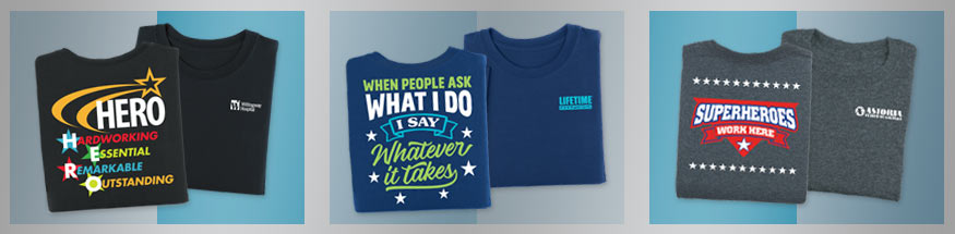 Employee appreciation t-shirts from Positive Promotions