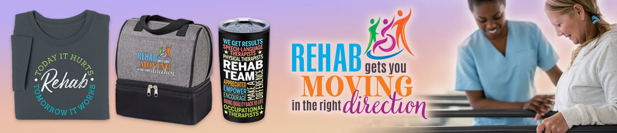 Rehabilitation professional appreciation gifts from Positive Promotions