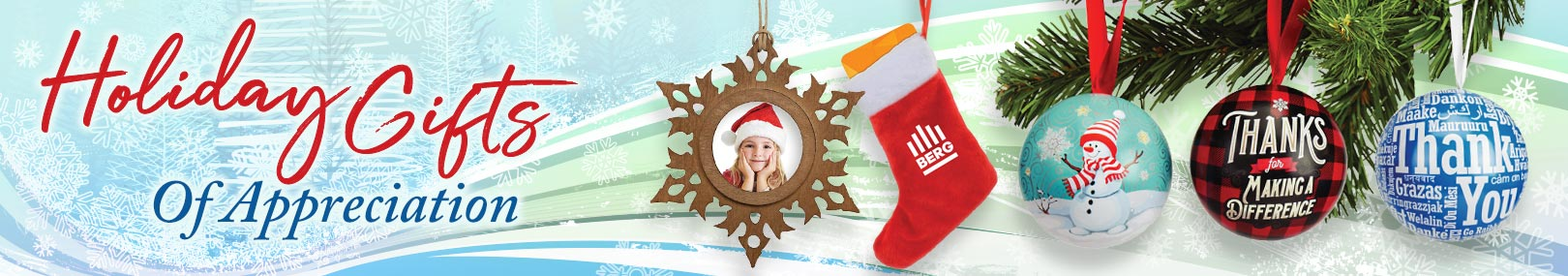Holiday ornaments from Positive Promotions