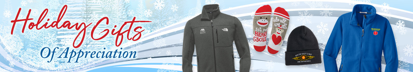 Holiday apparel from Positive Promotions